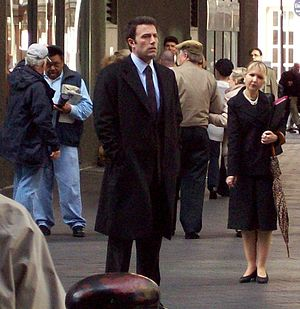 Ben Affleck filming the 2010 drama The Company...