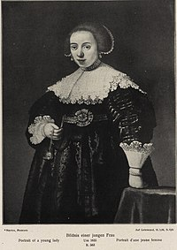 After Rembrandt - A Young Lady holding a Watch and a Chain in her Right Hand.jpg