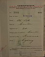 Ah Lok Auckland Chinese poll tax certificate butts Certificate issued at Auckland.jpg