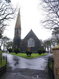 Ahoghill village in the United Kingdom