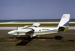 Air Illinois - Image: Air Illinois DHC 6 Twin Otter N659MA