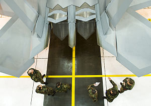 Airmen receiving training on the F-22 Raptor from 477th Aircraft Maintenance Squadron crew chiefs.jpg