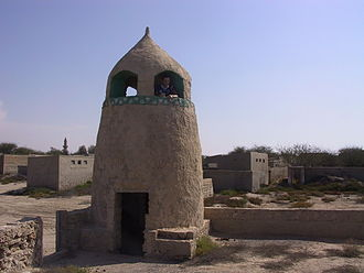 Al Jazirah Al Hamra - The old mosque in the abandoned part of Al Jazirah Al Hamra