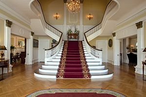 Alabama Governor's Mansion - The main staircase in the entrance hall