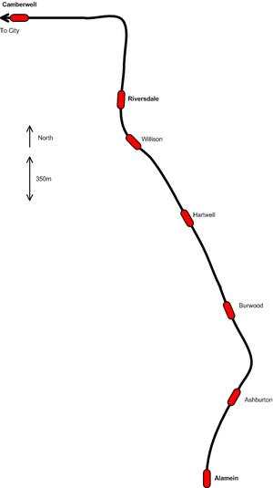 Alamein railway line - Image: Alamein railway line, Melbourne
