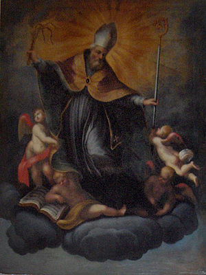 St. Ambrose, painting by Maria Brusco; Oratory...
