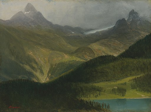 Albert Bierstadt - Mountain landscape (01)