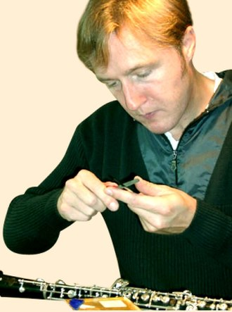Oboe - Oboist Albrecht Mayer preparing reeds for use. Most oboists scrape their own reeds to achieve the desired tone and response