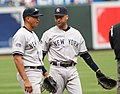 Alex Rodriguez and Derek Jeter against Orioles 4-20-08.jpg