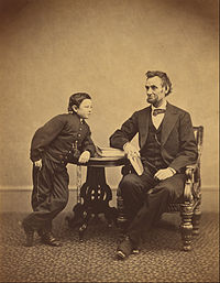 Alexander Gardner (American, born Scotland - (Abraham Lincoln and His Second Son Thomas (Tad)) - Google Art Project.jpg