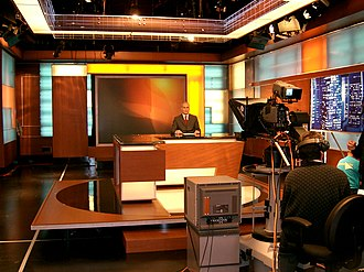 Alhurra - Alhurra's studio during their first live broadcast, 14 February 2004