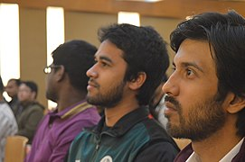 Ali Haidar Khan, Tanweer Morshed & Moheen Reeyad at Wikipedia 15 celebration in BSK (01).jpg