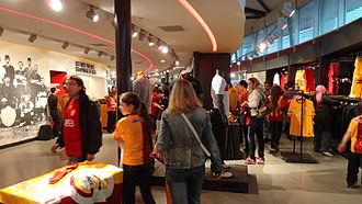 Ali Sami Yen Sports Complex - Image: Ali Sami Yen Spor Kompleksi Galatasaray Store Interior view 1