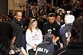 All-Star Game Weekend The Curry's - Dell Curry and Stephen Curry at NBA All-Star Weekend Center Court 2016 (24944206871).jpg