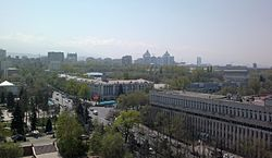 Skyline of Almaty