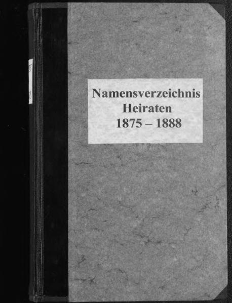 File:Alphabetisches Namensverzeichnis zum Heiratsregister des Standesamtes Minden, 1874 (4. Quartal) bis 1888.djvu