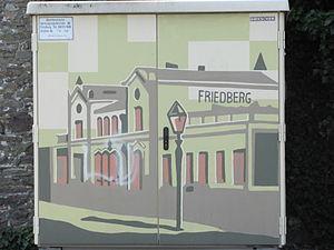 Friedberg station - Sketch of original station