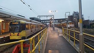 Altrincham Interchange - A M5000 at Altrincham Interchange in Jan 2017.
