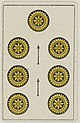 Aluette card deck - Grimaud - 1858-1890 - Seven of Coins.jpg