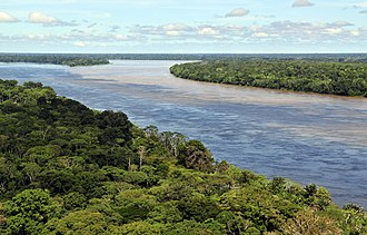 History of South America - Aerial view of the Amazon rainforest, near Manaus