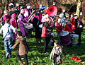 Ambling Band at Bristol public sector pensions rally in November 2011.jpg