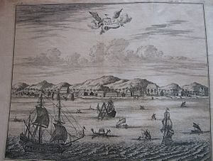 Dutch East India Company - The Isle of Amboina, a 17th-century print, probably English