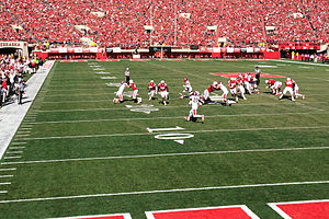 Ameer Abdullah - Abdullah turning the corner on his third touchdown run.