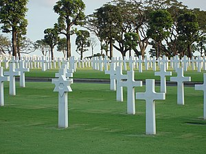 Manila American Cemetery - Graves in the cemetery