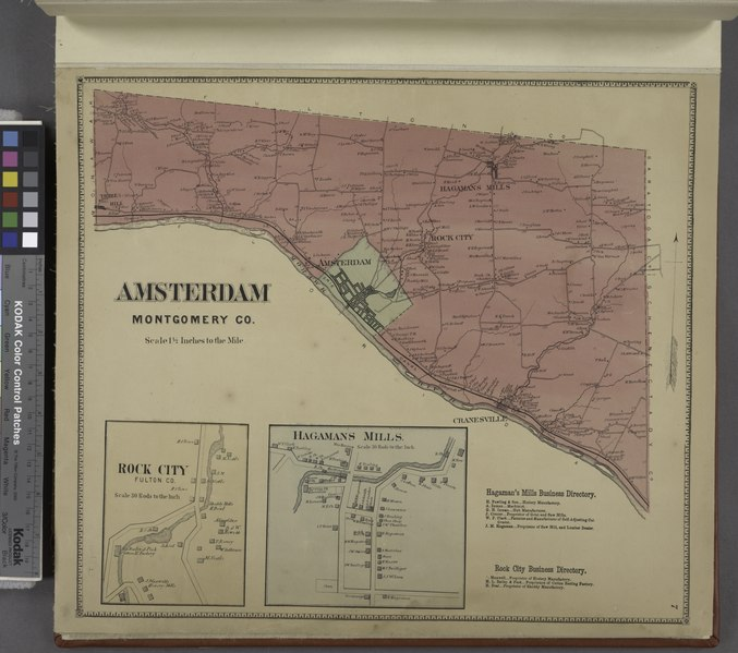 File:Amsterdam Montgomery Co. (Township); Hagman's Mills Business Directory.; Rock City Business Directory.; Hagmans Mills (Village); Rock City (Village) NYPL1584213.tiff