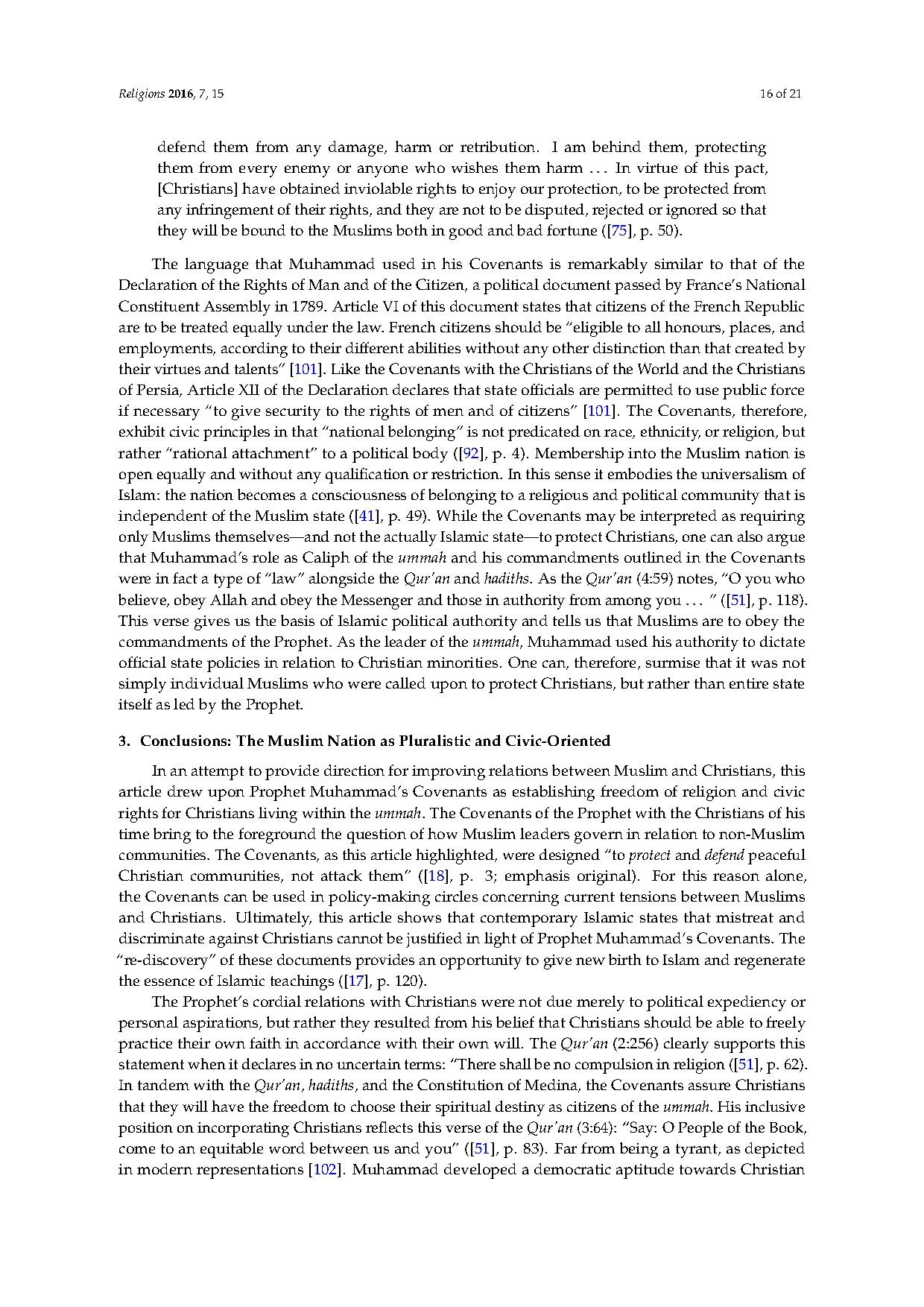 Page An Analysis Of Prophet Muhammad S Covenants With Christians Pdf