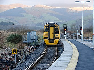 Cambrian Line - Image: An Arriva Wales train pulls into Dovey Junction Station geograph.org.uk 1087576