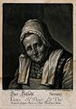 An old woman wearing spectacles; representing the sense of s Wellcome V0007692ER.jpg