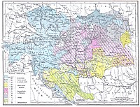 Religious map of Austria-Hungary