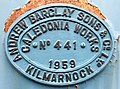 Andrew Barclay 0-4-0 Shunter Manufacture plate (6662271447).jpg