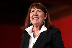 Ann Kirkpatrick - Kirkpatrick speaking with supporters at a campaign event in Phoenix, Arizona.