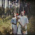Anna Iwaszkiewicz with Maria Wysocka color photograph- Stanisław Wilhelm Lilpop.jpg