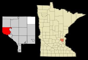 Ramsey, Minnesota - Image: Anoka Cnty Minnesota Incorporated and Unincorporated areas Ramsey Highlighted