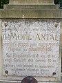 Antal Mohl †1916 grave, plaque, 2019 Kapuvár.jpg