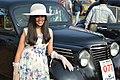 Antara Banerjee with 1946 Renault Juvaquatre - 1003 cc - 4 cyl - WBC 8980 - Kolkata 2018-01-28 0830.JPG