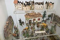Antique toy soldiers WWI military camp (26428979062).jpg