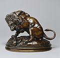 Antoine-Louis Barye - Lion and Serpent No 3 (sketch) - Walters 2787 - Profile.jpg