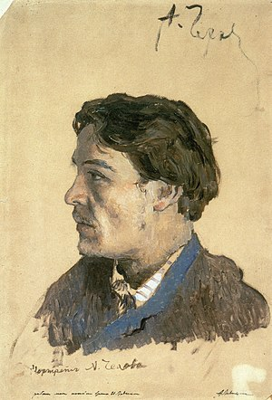 Anton Chekhov bibliography - Portrait of Chekhov by Isaak Levitan 1886