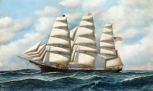 Antonio Jacobsen - The ship Young America at sea.jpg