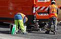 Anzin & Valenciennes - Travaux de raccordement des lignes A & B du tramway de Valenciennes à la Croix d'Anzin le 13 août 2013 (34).JPG
