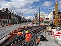 Anzin & Valenciennes - Travaux de raccordement des lignes A & B du tramway de Valenciennes à la Croix d'Anzin le 19 août 2013 (29).JPG