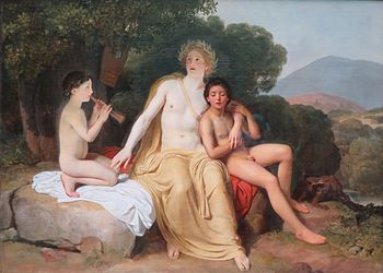 Apollo, Hyacinthus and Cyparis singing and playing by Alexander Ivanov.jpg