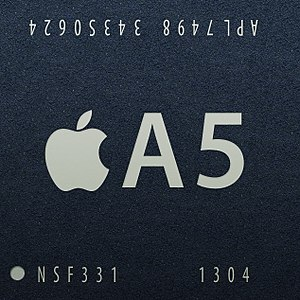 Apple A5 - Image: Apple A5 APL7498