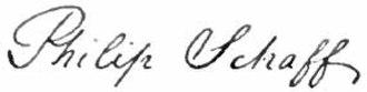Philip Schaff - Image: Appletons' Schaff Philip signature