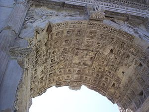 Arch of Titus - Detail of the central soffit coffers