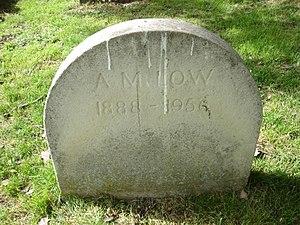Archibald Low - Gravestone, Brompton Cemetery, London